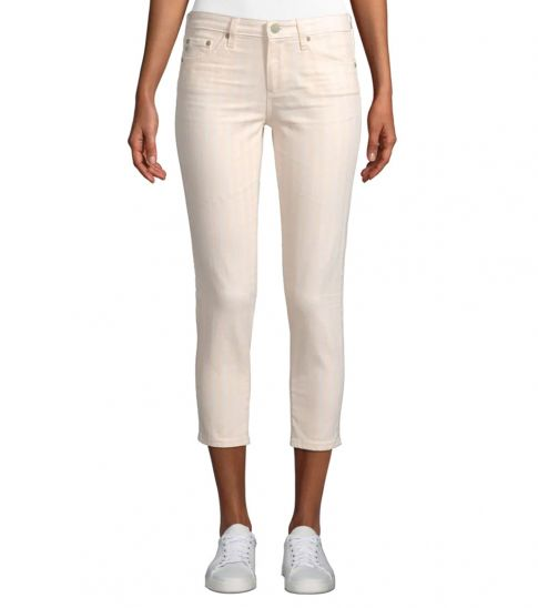 AG Adriano Goldschmied Light Pink Prima Cropped Jeans