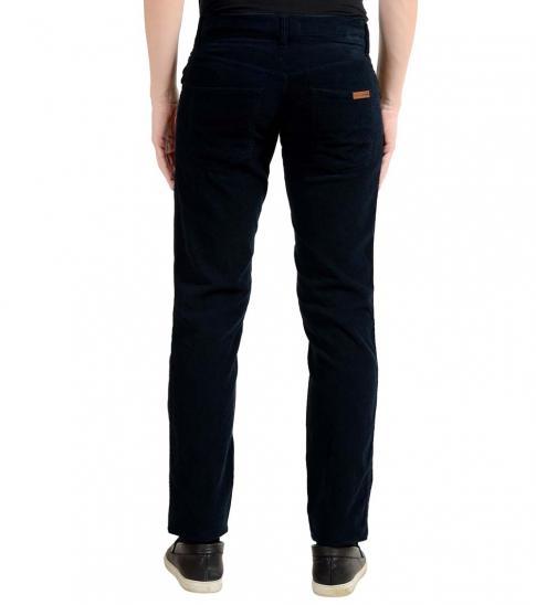 Dolce & Gabbana Navy Blue Corduroy Jeans