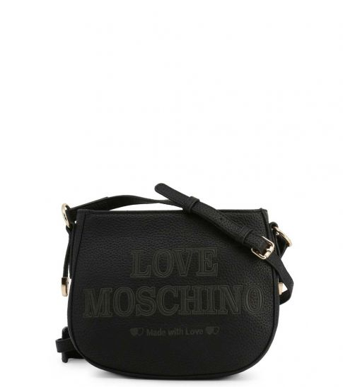 Love Moschino Black Made With Love Medium Crossbody