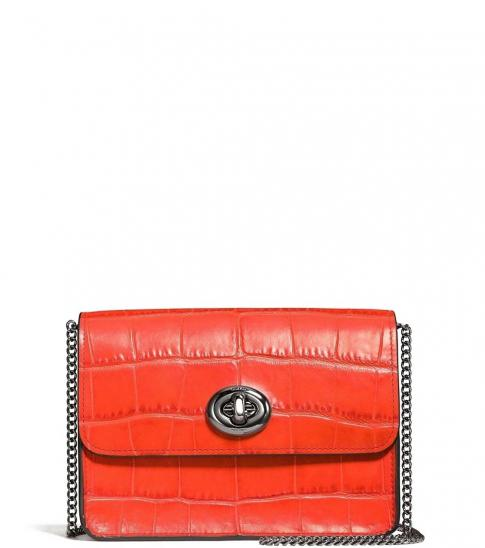 Coach Coral Embossed Small Crossbody