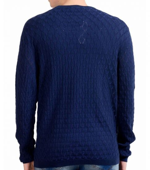 Versace Collection Blue Crewneck Sweater
