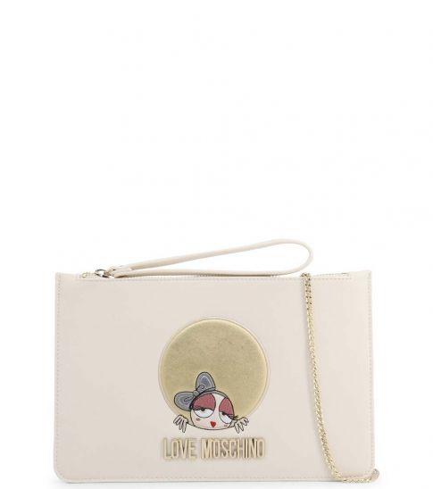 Love Moschino White Garphic Small Crossbody