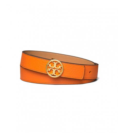 Tory Burch Mango-Cardamom Gold Reversible Belt