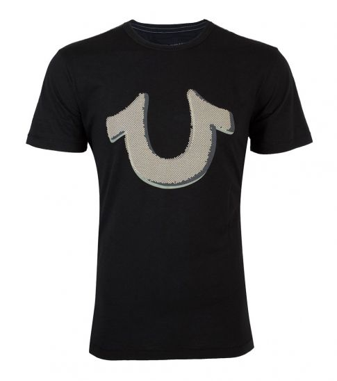 True Religion Black Pop Art Horseshoe T-Shirt