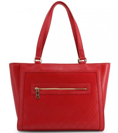 Love Moschino Red Embellished Large Tote
