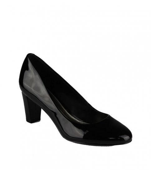 Ralph Lauren Black Hala Patent Leather Heels