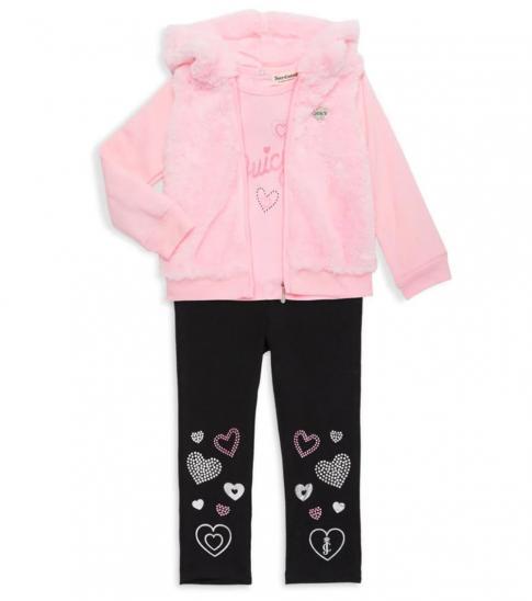 Juicy Couture 3 Piece Jacket/Top/Leggings Set (Baby Girls)