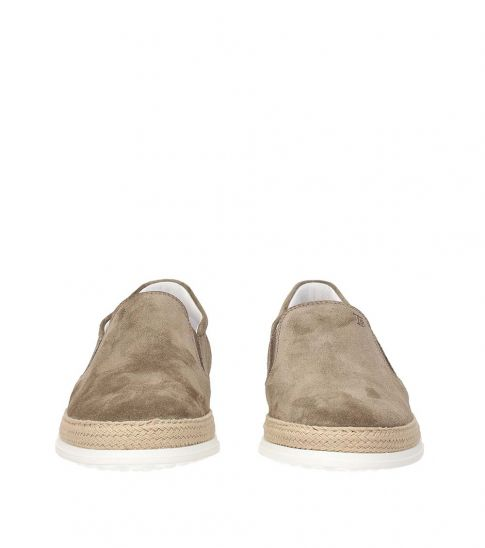 Tod's Beige Suede Loafers