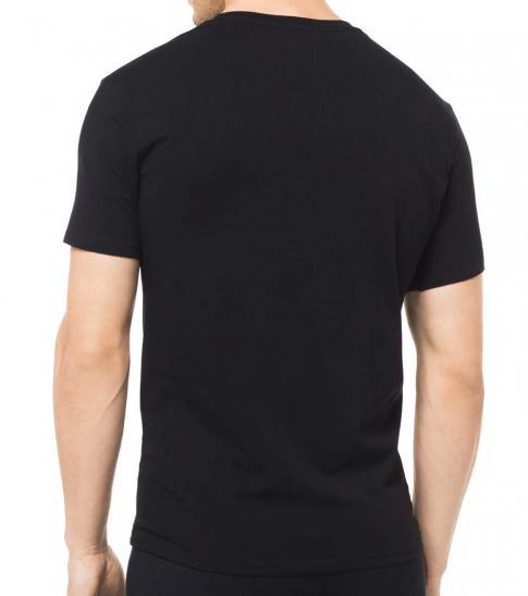 Michael Kors Black Cotton V-Neck T-Shirt