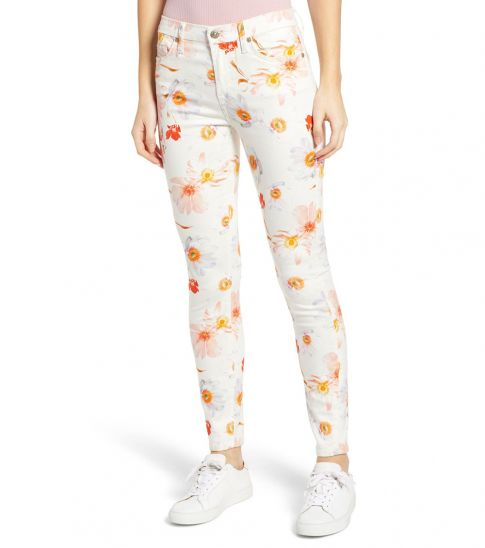 7 For All Mankind White Ankle Skinny Jeans