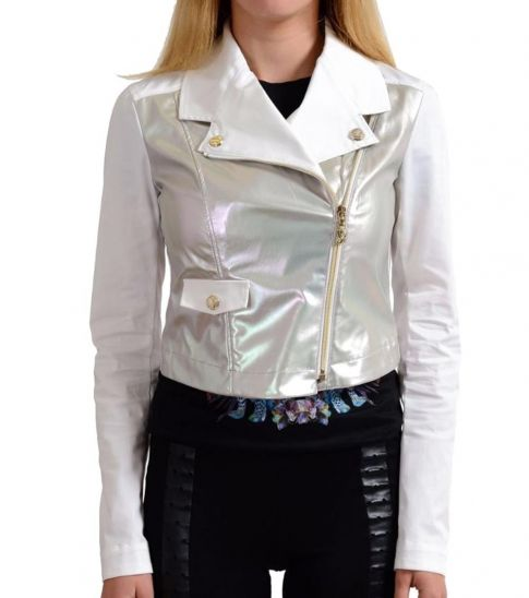 Versace Jeans Silver Full Zip Basic Jacket