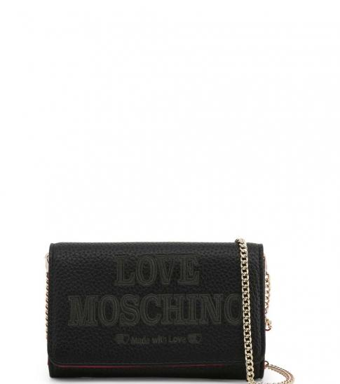 Love Moschino Black Made With Love Clutch