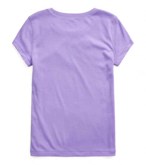 Ralph Lauren Girls Hampton Purple Cotton-Modal T-Shirt