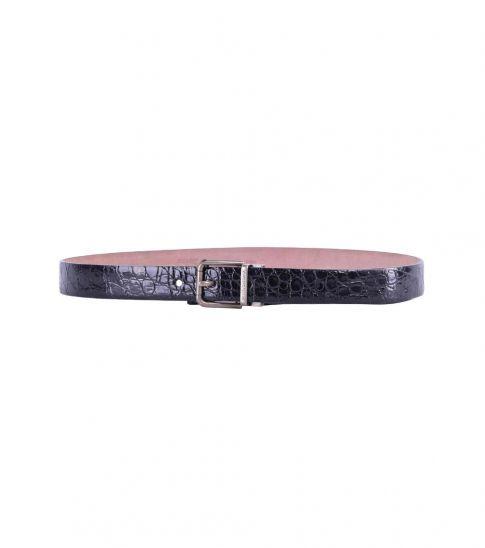 Dolce & Gabbana Black Printed Leather Belt