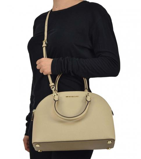 Michael Kors Bisque Emmy Medium Satchel