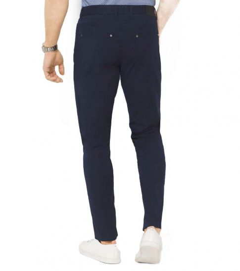 Michael Kors Midnight Slim-Fit Cotton-Twill Pants
