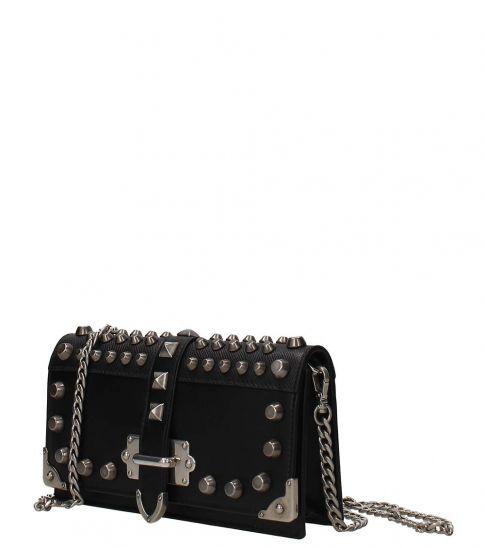 Prada Black Studded Mini Shoulder Bag