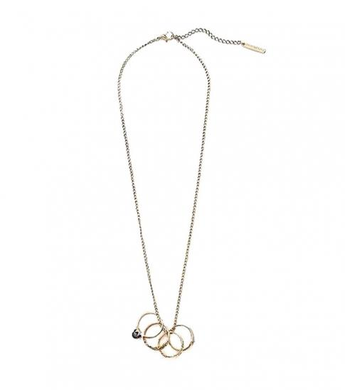 Armani Exchange Gold Multi Ring Decorative Necklace