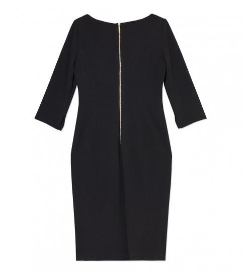 Calvin Klein Black Cowl Neck Sheath Dress