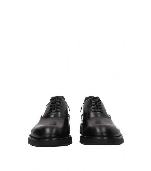 Prada Black Leather Lace Ups