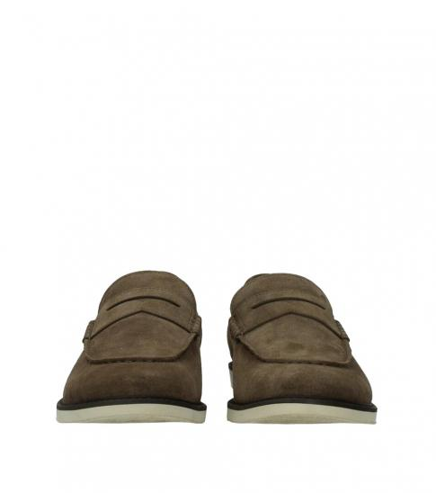 Hogan Brown Side Logo Loafers