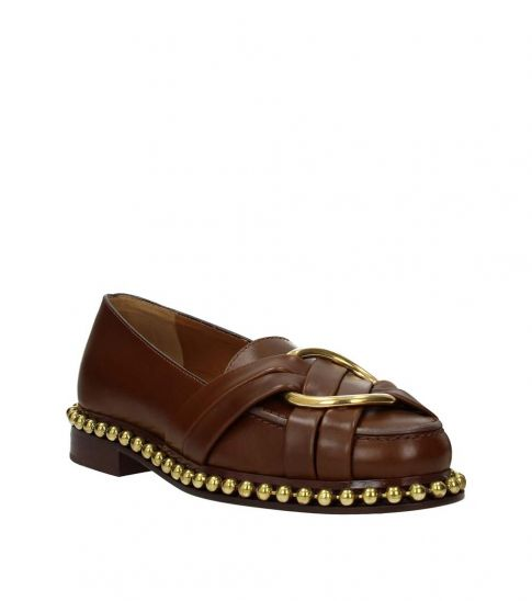 Chloe Brown Leather Loafers