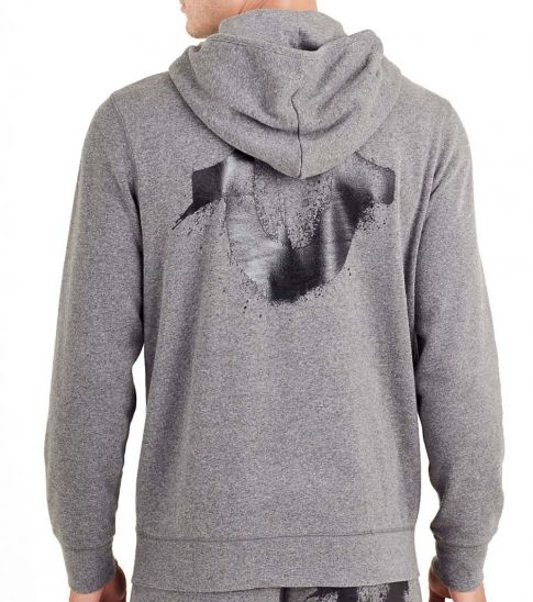 True Religion Grey Splatter Hoodie Jacket