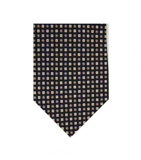 Ralph Lauren Black Dapper Squares Silk Tie