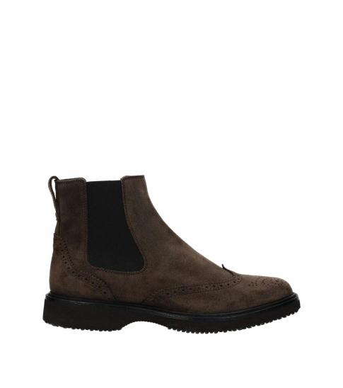 Hogan Brown Suede Ankle Boots