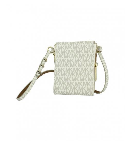 Michael Kors White Orange Logo Fanny Belt Bag