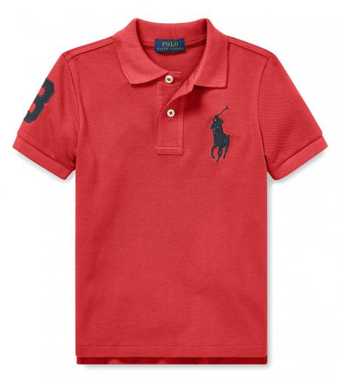 Ralph Lauren Little Boys Nantucket Red Mesh Polo