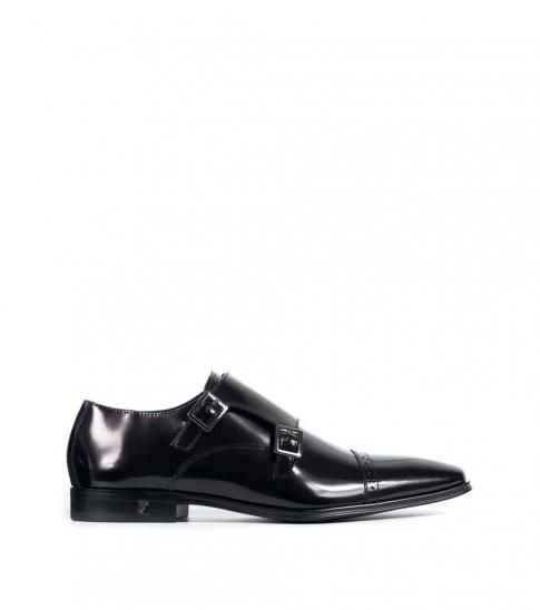 Versace Collection Black Monkstrap Dress Shoes