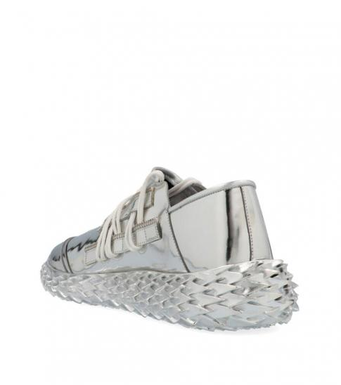 Giuseppe Zanotti Silver Urchin Sneakers