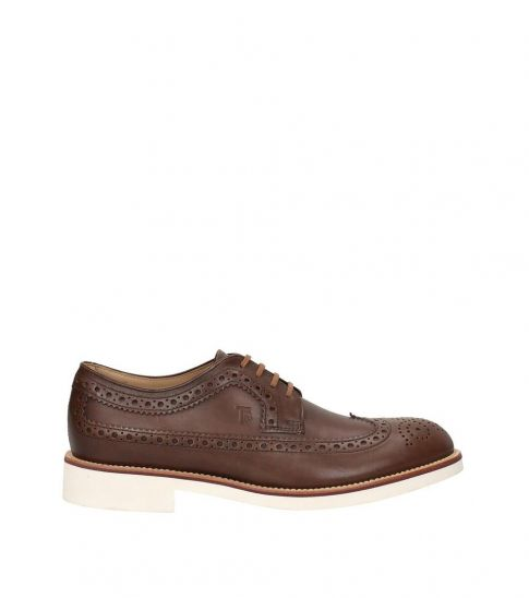 Tod's Brown Wingtip Leather Loafers
