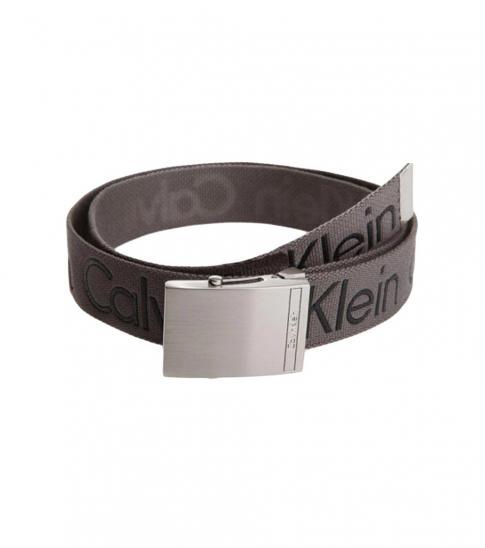 Calvin Klein Grey CK Cotton Belt