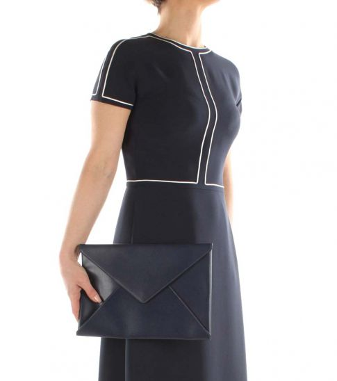 Marni Blue Envelope Clutch