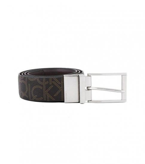 Calvin Klein Brown CK Logo Reversible Belt