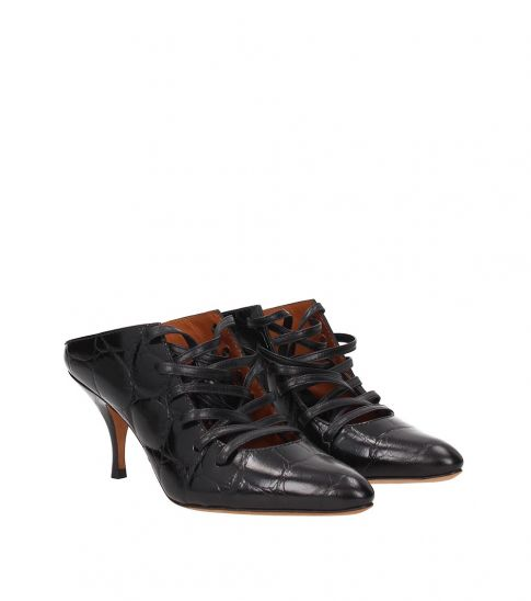 Givenchy Black Lace Up Heels
