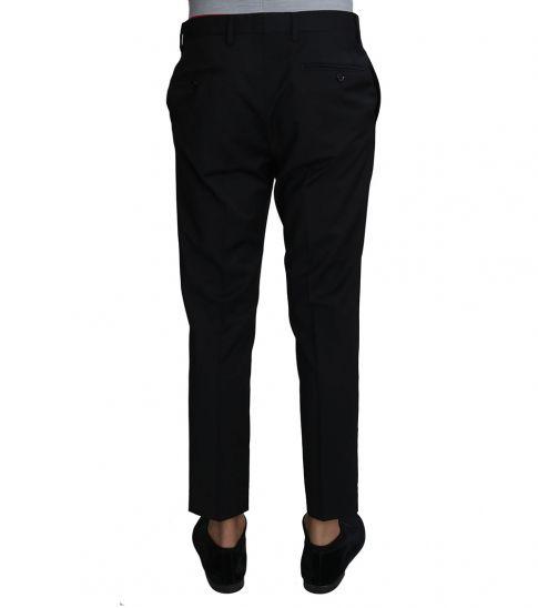 Dolce & Gabbana Black Wool Dress Formal Trousers