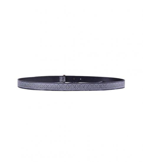 Dolce & Gabbana Black Printed Logo Belt