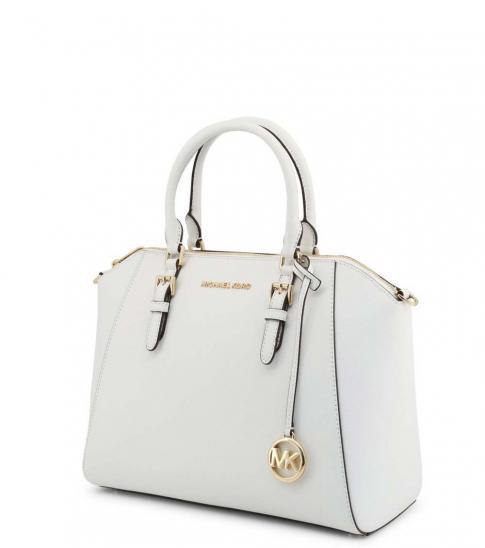Michael Kors Optic White Ciara Large Satchel