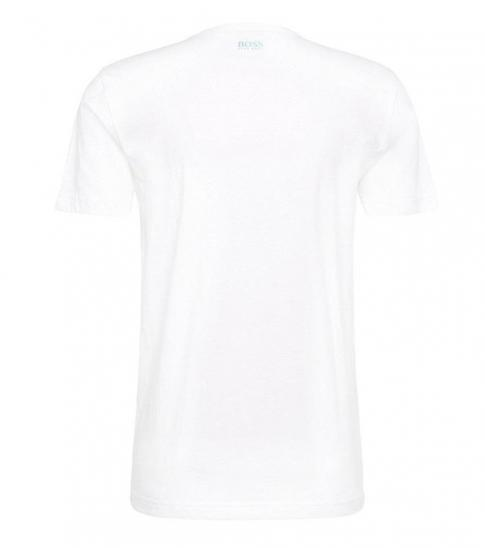 Hugo Boss White Graphic Premium Cotton T-Shirt