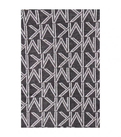 Michael Kors Charcoal Gray Monogram Logo Scarf