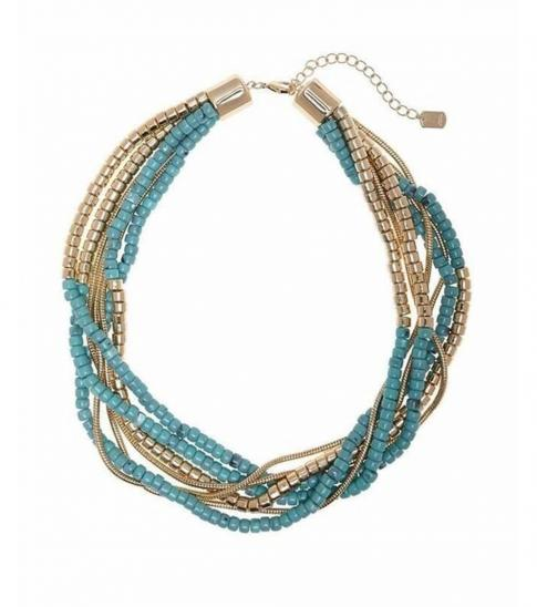 Armani Exchange Teal Chunky Timeless Necklace