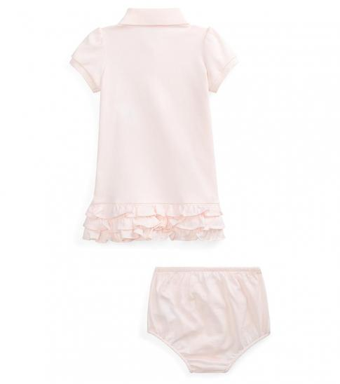 Ralph Lauren Baby Girls 2-Piece Big Pony Tiered Neon Dress Set
