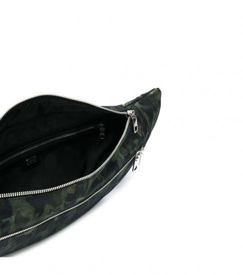 Dolce & Gabbana Green Camo Print Belt Bag