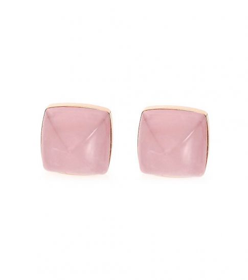 Michael Kors Pink Pyramid Stone Earrings