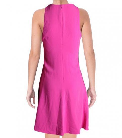 Ralph Lauren Exotic Pink Solid Sleeveless Dress
