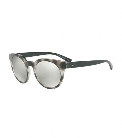 Armani Exchange Grey Havana Mirror Sunglasses