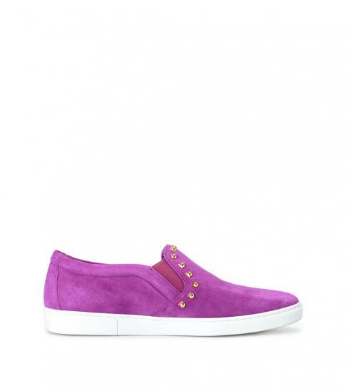 Salvatore Ferragamo Purple Spargi Studded Loafers